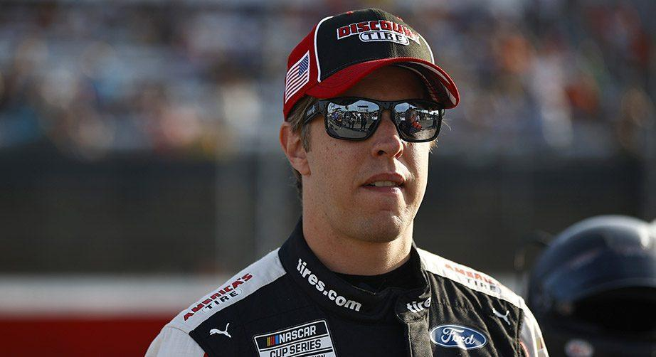 DARLINGTON, SOUTH CAROLINA - SEPTEMBER 05: Brad Keselowski, driver of the #2 Discount Tire Ford, waits on the grid prior to the NASCAR Cup Series Cook Out Southern 500 at Darlington Raceway on September 05, 2021 in Darlington, South Carolina. (Photo by Jared C. Tilton/Getty Images) | Getty Images