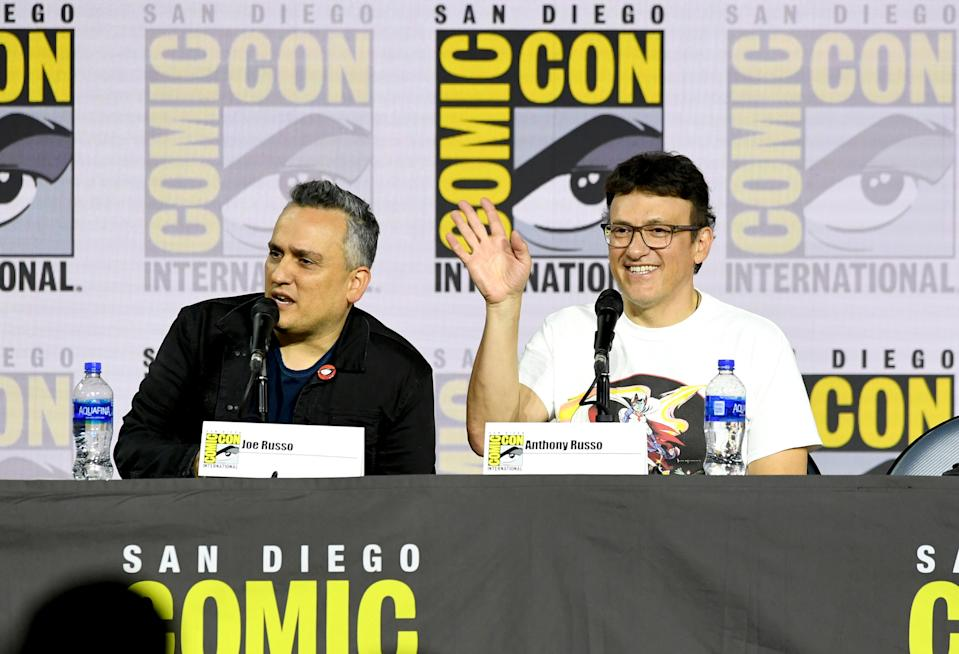 Joe Russo and Anthony Russo speak during Comic-Con International on July 19, 2019. (Photo by Kevin Winter/Getty Images)