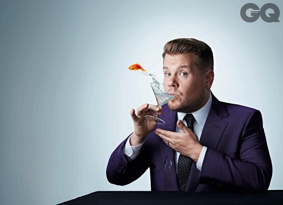James Corden appears on the cover of the September 2019 issue of British GQ. (Credit: Simon Webb)