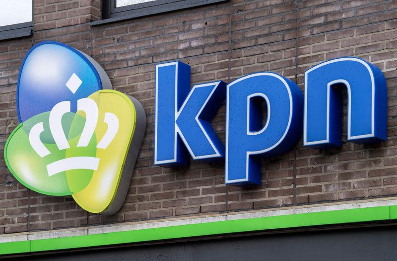 FILE PHOTO: KPN logo is seen at a KPN outlet in Den Bosch