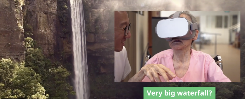 Mind Palace is a startup that was formed as part of a local pre-accelerator programme that StartupX launched earlier this year with Temasek. The company uses VR technology to help seniors with dementia maintain an active mind. (PHOTO: Screenshot)