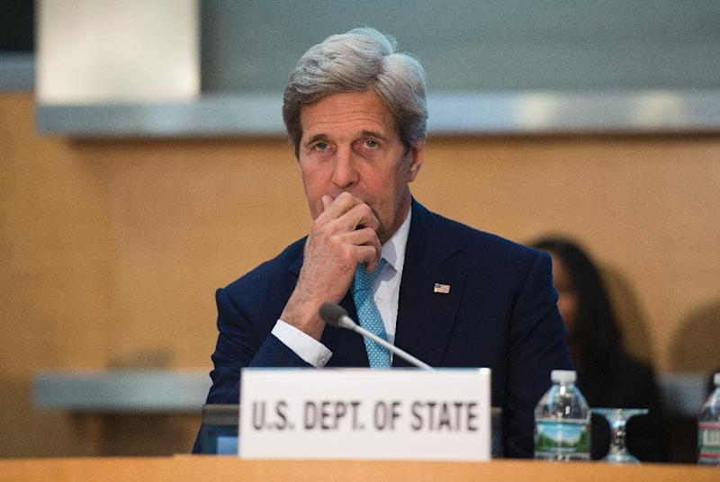 Iran has so far seen only around $3 billion in previously frozen assets returned since it struck a nuclear deal with world powers, says US Secretary of State John Kerry (AFP Photo/Molly Riley)
