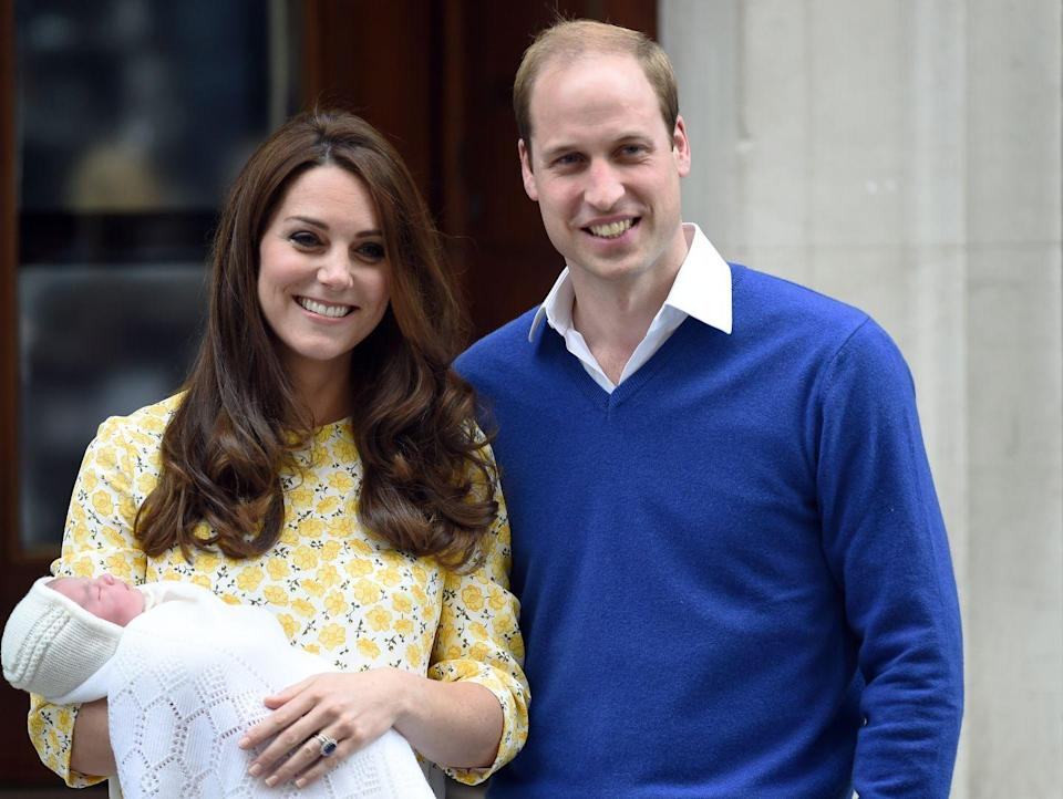 "<p>Princess Charlotte was born on May 2, 2015. ""I feel very, very lucky that George has got a little sister,"" the Duchess later said in an <a href=""https://www.hellomagazine.com/royalty/2016041169020/kate-middleton-interview-queen-elizabeth-thrilled-princess-charlotte/"" rel=""nofollow noopener"" target=""_blank"" data-ylk=""slk:interview"" class=""link rapid-noclick-resp"">interview</a> with <em>Hello</em>. </p>"