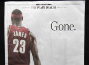 """<p>LeBron's """"The Decision"""" is still one of the defining moments of his career and the NBA landscape in the last decade. When he decided to take his talents to South Beach, he not only left the team he'd led back to prominence, he also broke the heart of the city and community where he grew up. Fortunately for Cavaliers fans, four years later he returned to the team that originally drafted him and brought home the franchise's first NBA championship in 2016. </p>"""