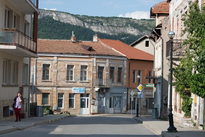 "Belogradchik, a town in northwestern Bulgaria, is in a region suffering a population loss. <span class=""copyright"">(Jodi Hilton / For The Times)</span>"