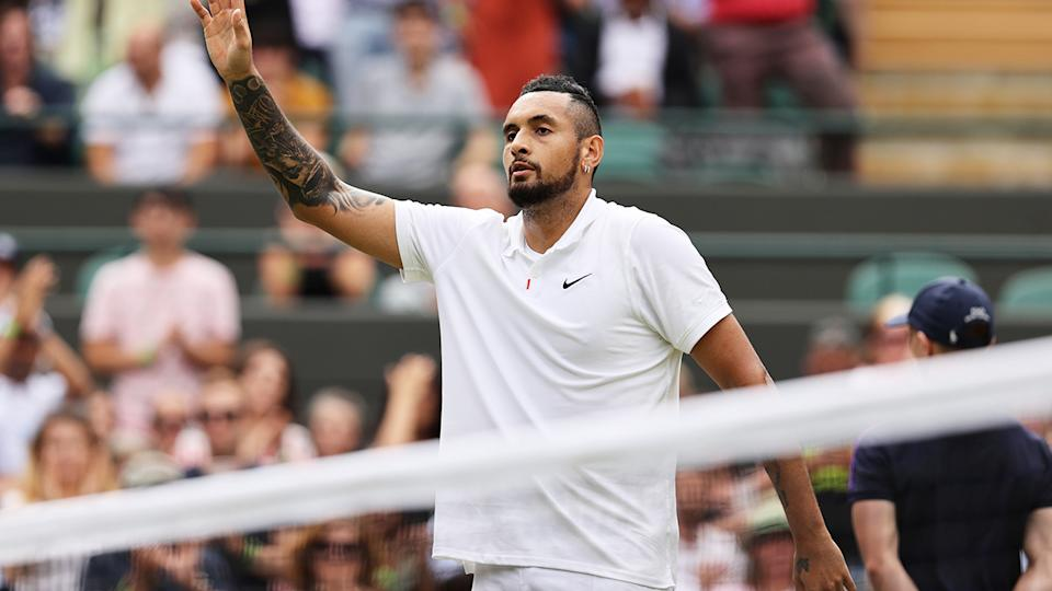 Nick Kyrgios announced he would not compete in Tokyo after his impressive return at Wimbledon. (Photo by Clive Brunskill/Getty Images)