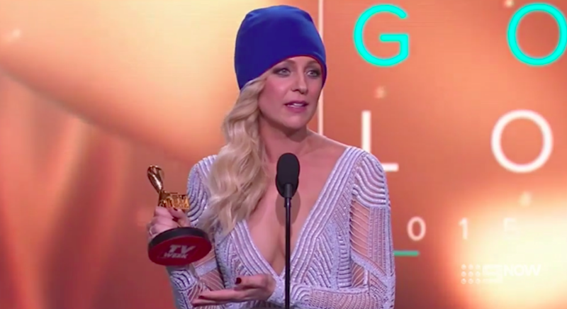 Carrie Bickmore paid tribute to her late husband Greg when she took home the Gold Logie in 2015.