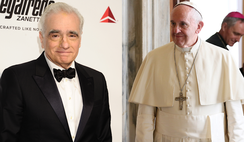 Martin Scorsese and Pope Francis. (Credit: WENN)