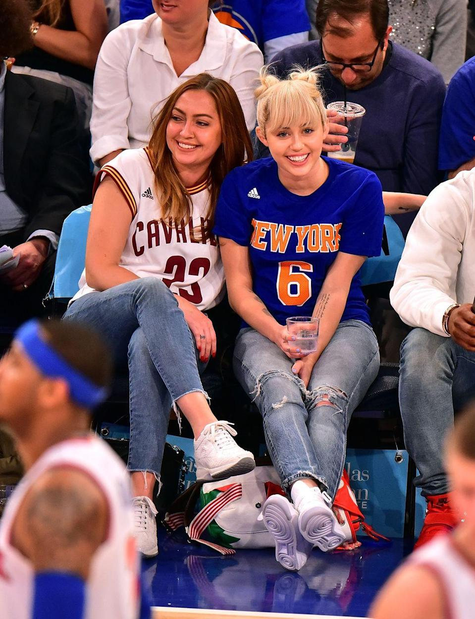 <p>Brandi and Miley Cyrus both grew up as celebrity off-spring—their dad is country singer, Billy Ray Cyrus—and they both followed him into the music industry. Not to mention, they have the same round faces and wide smiles.</p>