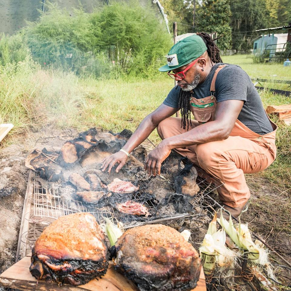 Chef Matthew Raiford organized his recipes by the elements: earth, water, wind, nectar, spirits and fire.