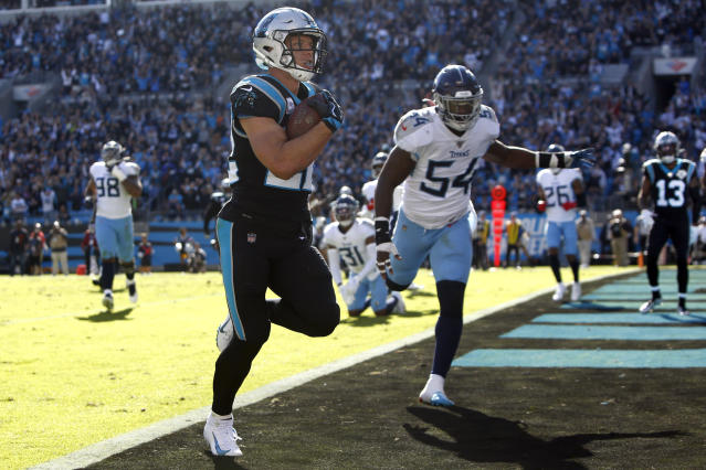 """Could we see Carolina Panthers running back <a class=""""link rapid-noclick-resp"""" href=""""/nfl/players/30121/"""" data-ylk=""""slk:Christian McCaffrey"""">Christian McCaffrey</a> on the NFL's opening night? (AP Photo/Brian Blanco)"""
