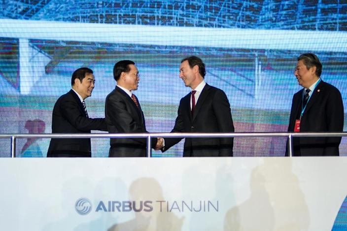 European giant, Airbus says it has an almost 50 percent share of the Chinese aviation market (AFP Photo/Fred Dufour)