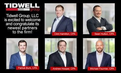 New partners announced for the Tidwell Group for 2021