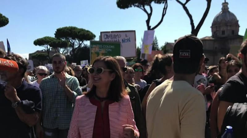 Boldrini al Fridays for future a Roma