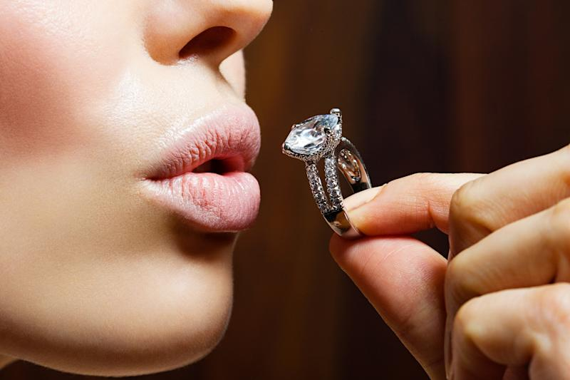 More women are buying their own engagement rings [Photo: Getty]