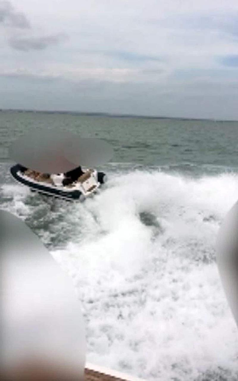 Williams Turbojet 325 rigid inflatable boat (Rib) being driven by Aaron Brown - Credit: Hampshire Police
