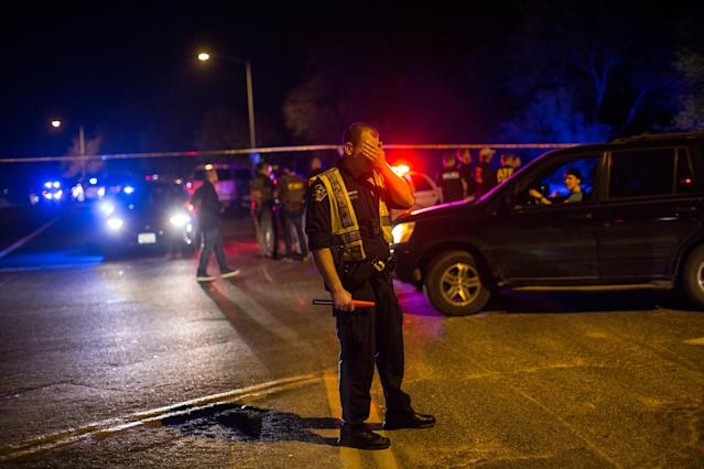 Police at cordoned-off site of an incident reported as an explosion in southwest Austin, Texas, on March 18, 2018. (Photo: Tamir Kalifa/Reuters)
