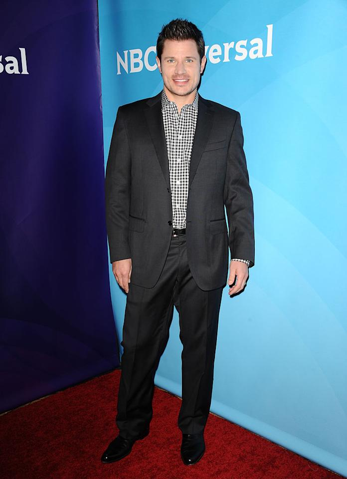 "Nick Lachey (""The Winner Is"") attends the 2013 NBC Universal Summer Press Day held at The Langham Huntington Hotel and Spa on April 22, 2013 in Pasadena, California."