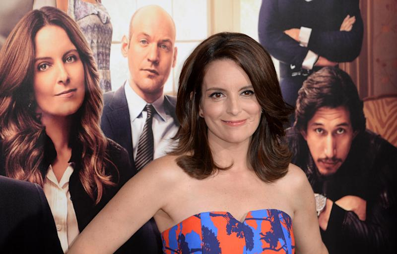 "Tina Fey arrives for the Los Angeles premiere of ""This Is Where I Leave You,"" at TCL Chinese Theatre in Hollywood, California, September 15, 2014 (AFP Photo/Robyn Beck)"