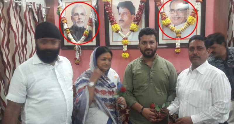 Indore Mayor in a Soup After Garlanding Photo of PM Modi