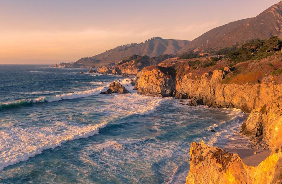 """<p>California's Big Sur–is there anywhere like it in the world? Roughly 90 miles of rugged coastline, dipping through valleys and cruising over seaside bridges, this stretch of the California coastline changes your very state of mind. </p><p>Lined with quaint harbor towns and bursting with unparalleled raw beauty, this classic voyage has 'best American road trip' written all over it. An oasis in the Redwoods, <a href=""""https://www.ventanabigsur.com/"""" rel=""""nofollow noopener"""" target=""""_blank"""" data-ylk=""""slk:Ventana Big Sur"""" class=""""link rapid-noclick-resp"""">Ventana Big Sur</a> provides ultimate peace and seclusion removed from Highway 101 in a rustic and romantic setting. Consisting of just 59 suites and 15 glamping tents, Ventana is the ideal launching point for hiking, whale-watching, and wine tasting your way through California for the ultimate <em>Big Little Lies </em>experience. Ventana Big Sur is alluringly understated, but its views are not–this is uneniably one of the best places to take in the natural beauty of the Pacific Coast.</p>"""