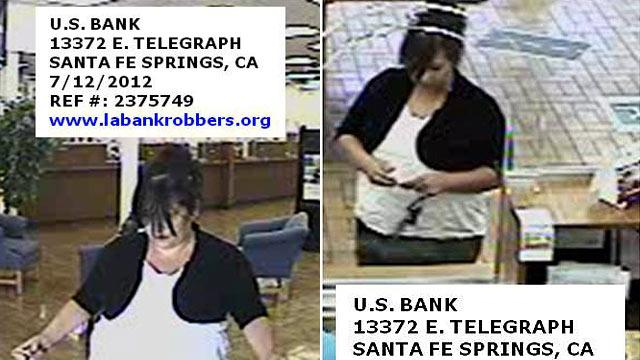 'Plain Jane Bandit' Goes on Bank Robbery Spree