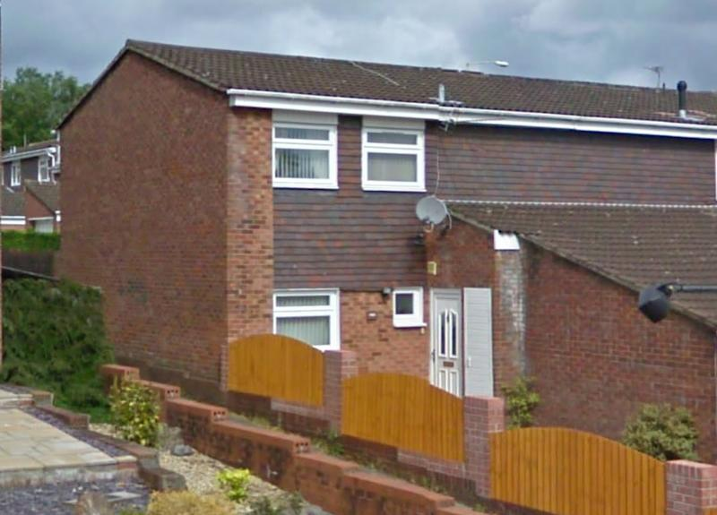 The semi-detached house in South Wales where Ruth Williams was found with head and neck injuries (WALES NEWS SERVICE)