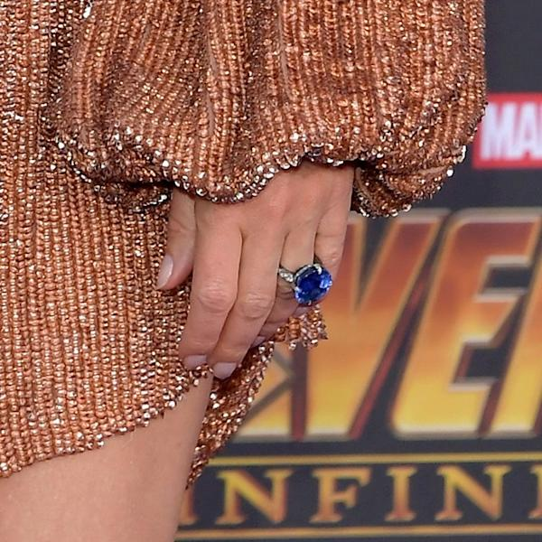 The 45-year-old actress switched up her bling for this red carpet appearance.
