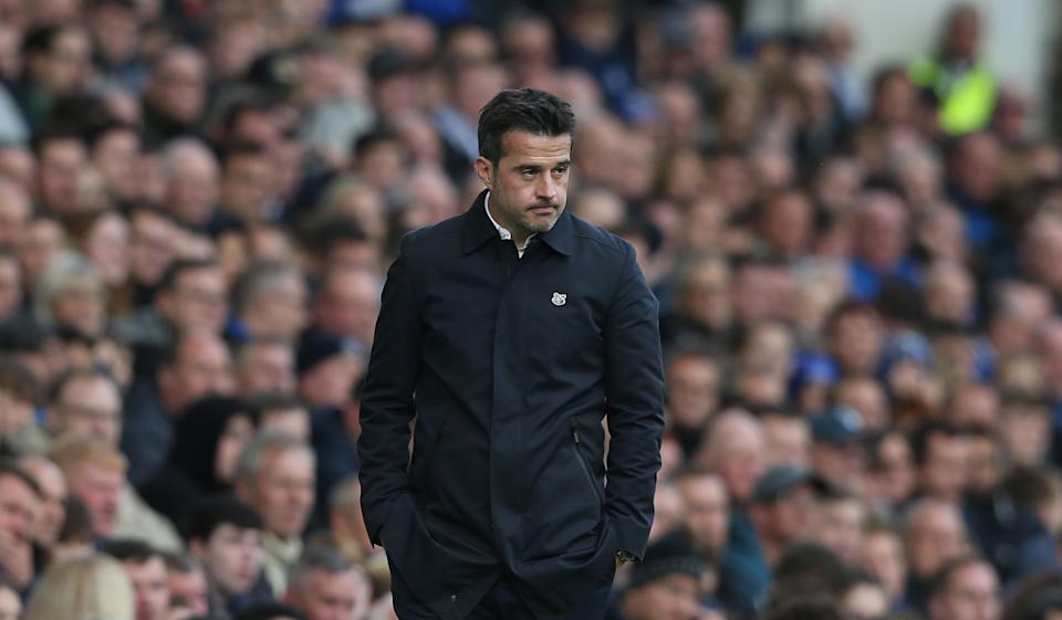 LIVERPOOL, ENGLAND - OCTOBER 19: Everton manager Marco Silva during the Premier League match between Everton FC and West Ham United at Goodison Park on October 19, 2019 in Liverpool, United Kingdom. (Photo by Rob Newell - CameraSport via Getty Images)