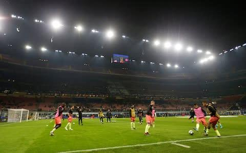 <span>The San Siro is ready for action </span> <span>Credit: Action Images </span>