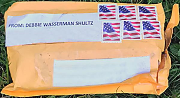 <p>The exterior of one of the suspicious packages sent to multiple locations in the U.S., appears in this handout photo provided by the Federal Bureau of Investigation, Oct. 24, 2018. The mailing address and return address have been edited out of the photo at source. (Photo: FBI/Handout via Reuters) </p>