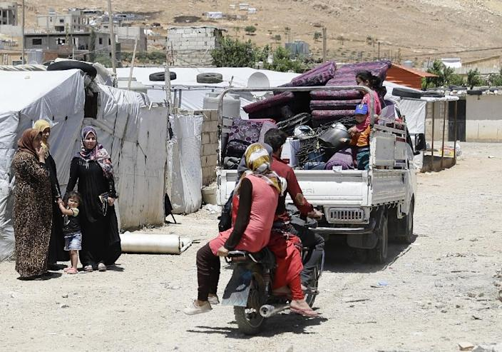 The UN says around 35,000 Syrian refugees are affected by the demolition order (AFP Photo/JOSEPH EID)
