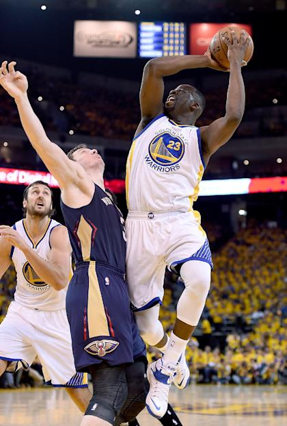 Green had 15 points and 12 rebounds in Game 1. (Getty Images)