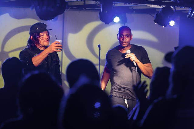 Reedus and Dave Chappelle (Photo: Gene Page/AMC)