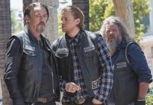 Tommy Flanagan, Charlie Hunnam, Mark Boone Junior | Photo Credits: Prashant Gupta/FX