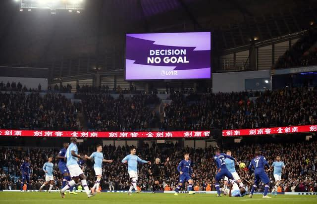 VAR decisions have become a key, if controversial, part of life in the Premier League (Nick Potts/PA)