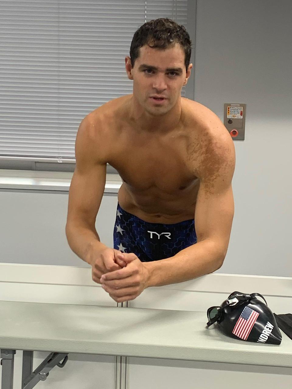 Swimmer Michael Andrew (USA), the highest profile unvaccinated American Olympian, refused to wear a mask in the mixed zone.