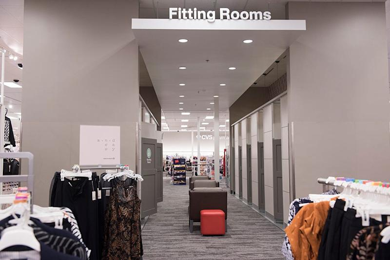 Fitting rooms in remodeled Target stores will include a nursing room.