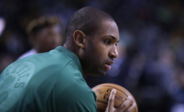 "The Celtics signed <a class=""link rapid-noclick-resp"" href=""/nba/players/4245/"" data-ylk=""slk:Al Horford"">Al Horford</a> to a max contract this past summer, and Boston is measuring him against it. (AP)"