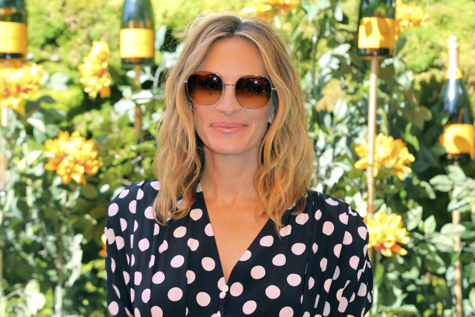 Julia Roberts attends the 10th Annual Veuve Clicquot Polo Classic at Will Rogers State Historic Park on Saturday, Oct. 5, 2019, in Los Angeles, Calif. (Photo by Willy Sanjuan/Invision/AP)