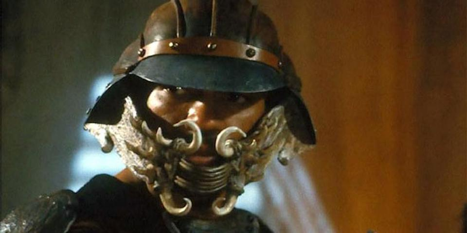 Lando (Billy Dee Williams) in disguise as a skiff guard in <i>Return of the Jedi</i> (Photo: Lucasfilm)