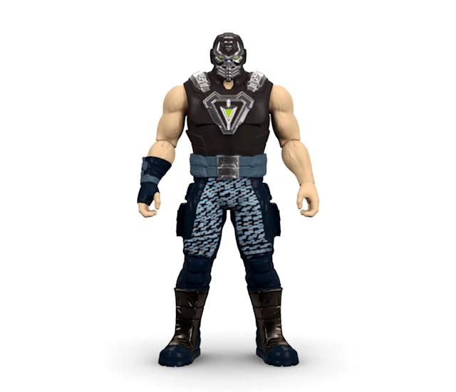 <p>Light up the (dark) night with Bane's light-up chest, which is bright enough to pierce the shadows were a certain Dynamic Duo might be hiding. (Photo: Mattel/Warner Bros.) </p>
