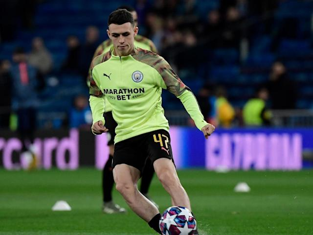 Manchester City midfielder Phil Foden: AFP via Getty Images