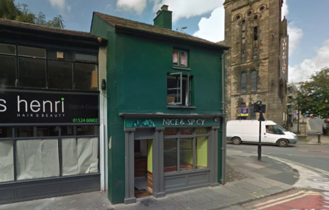 Nice and Spicy curry house in Lancaster was hit with a fine after it was charged with the sale of food that was unfit for human consumption (Google)