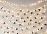 <p>Add some extra light to any room with these <span>Juisee Store LED Photo Clip String Lights</span> ($16).</p>