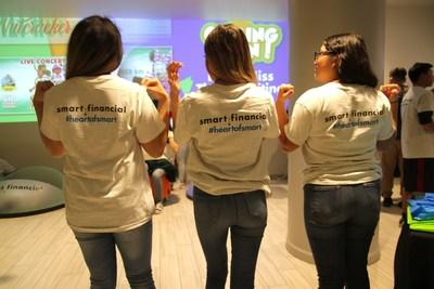 Jane Long Academy students modeling their #heartofsmart t-shirts