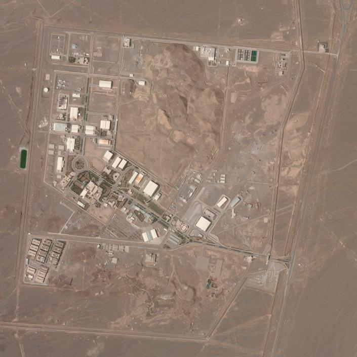 A satellite photo in April 2021 showing Iran's Natanz nuclear facility in Isfahan province - Planet Labs Inc./AP