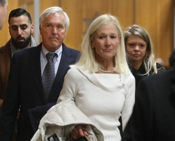 PHOTO: James Krauseneck, second from left, walks into court, with daughter Sara, right, and wife Sharon, to face charges in the 1982 murder of his then-wife Cathleen, at the Hall of Justice in Rochester, N.Y., Nov. 8, 2019. (Rochester Democrat and Chronicle via USA Today Network, FILE)