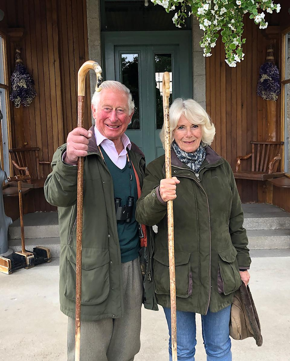 Charles and Camilla released this image to mark Christmas Day 2020. (Clarence House)