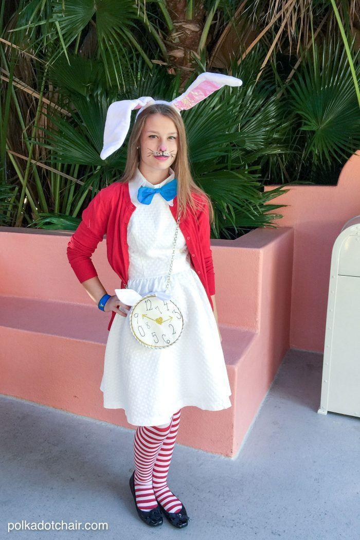 "<p>Another take on the White Rabbit costume, this no-sew idea comes together with a white dress, red cardigan, and whimsical accessories. </p><p><strong>Get the tutorial at <a href=""https://www.polkadotchair.com/no-sew-alice-in-wonderland-costume-ideas/"" rel=""nofollow noopener"" target=""_blank"" data-ylk=""slk:Polkadot Chair"" class=""link rapid-noclick-resp"">Polkadot Chair</a>.</strong></p><p><a class=""link rapid-noclick-resp"" href=""https://www.amazon.com/ToBeInStyle-Colorful-Striped-Pantyhose-Stocking/dp/B00UIGMS9C/ref=sr_1_1?tag=syn-yahoo-20&ascsubtag=%5Bartid%7C10050.g.29343502%5Bsrc%7Cyahoo-us"" rel=""nofollow noopener"" target=""_blank"" data-ylk=""slk:SHOP STRIPED TIGHTS"">SHOP STRIPED TIGHTS</a><br></p>"